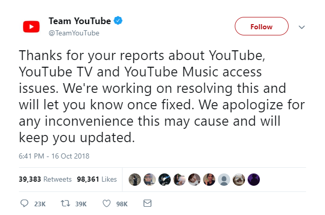 youtube tweet