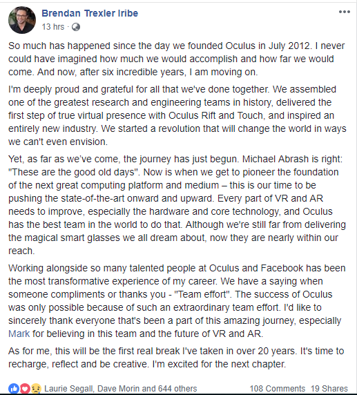 Oculus CEO resign
