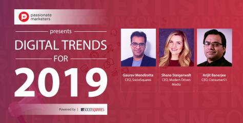 Digital Marketing Trends: 2019
